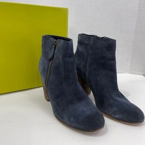 BP. Trolley Lea Navy Suede Ankle Boots Sz 10